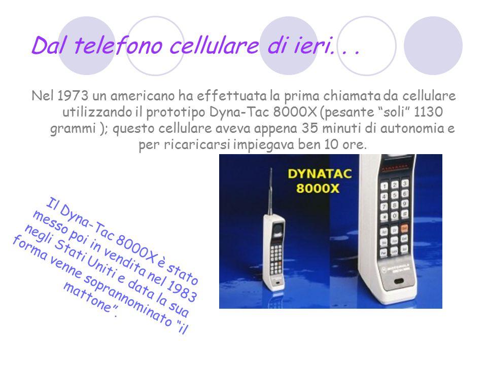 Dal telefono cellulare di ieri... Nel 1973 un americano ha effettuata la prima chiamata da cellulare utilizzando il prototipo Dyna-Tac 8000X (pesante