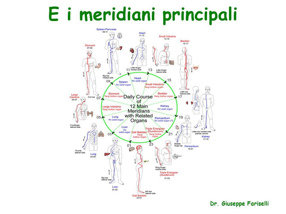 E i meridiani principali Dr. Giuseppe Fariselli