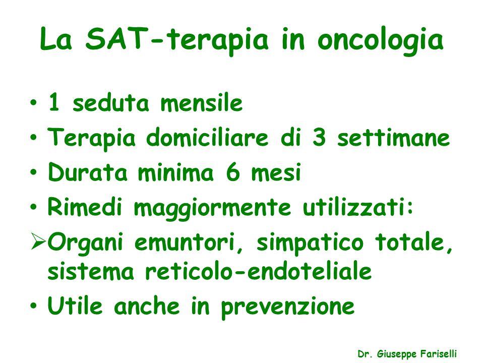 La SAT-terapia in oncologia Dr.
