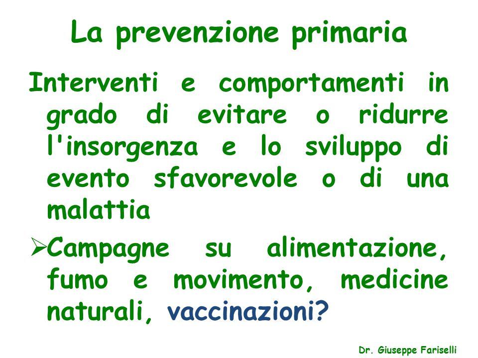 La prevenzione primaria Dr.