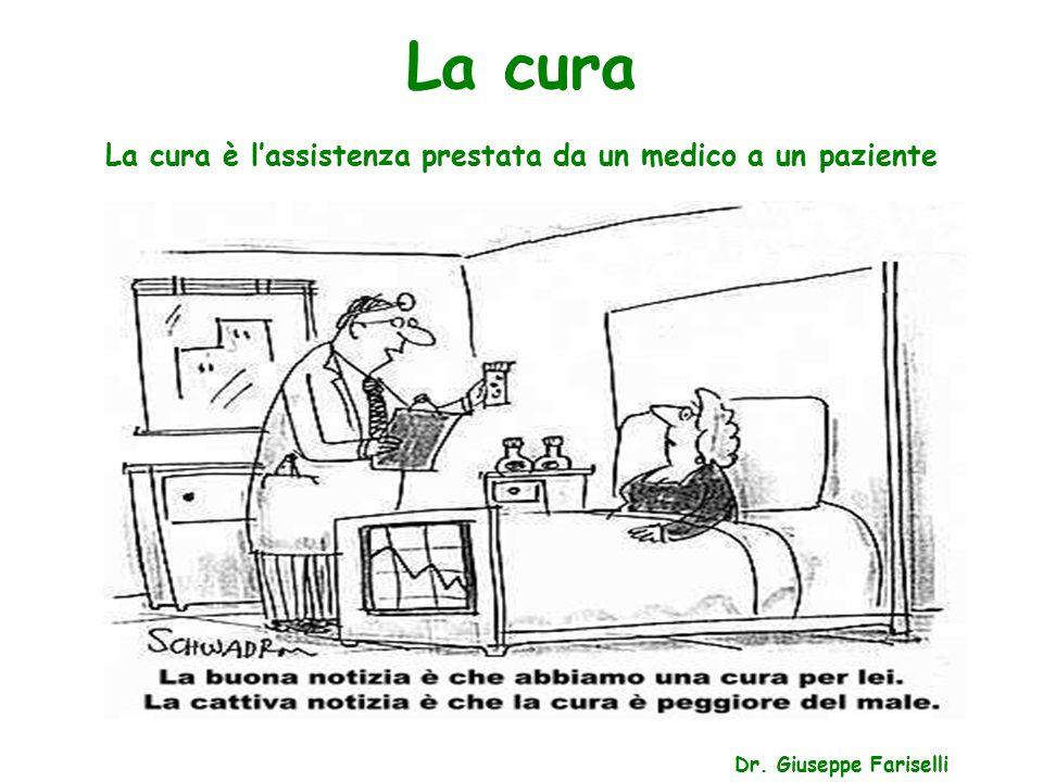 La cura La cura è l'assistenza prestata da un medico a un paziente Dr. Giuseppe Fariselli