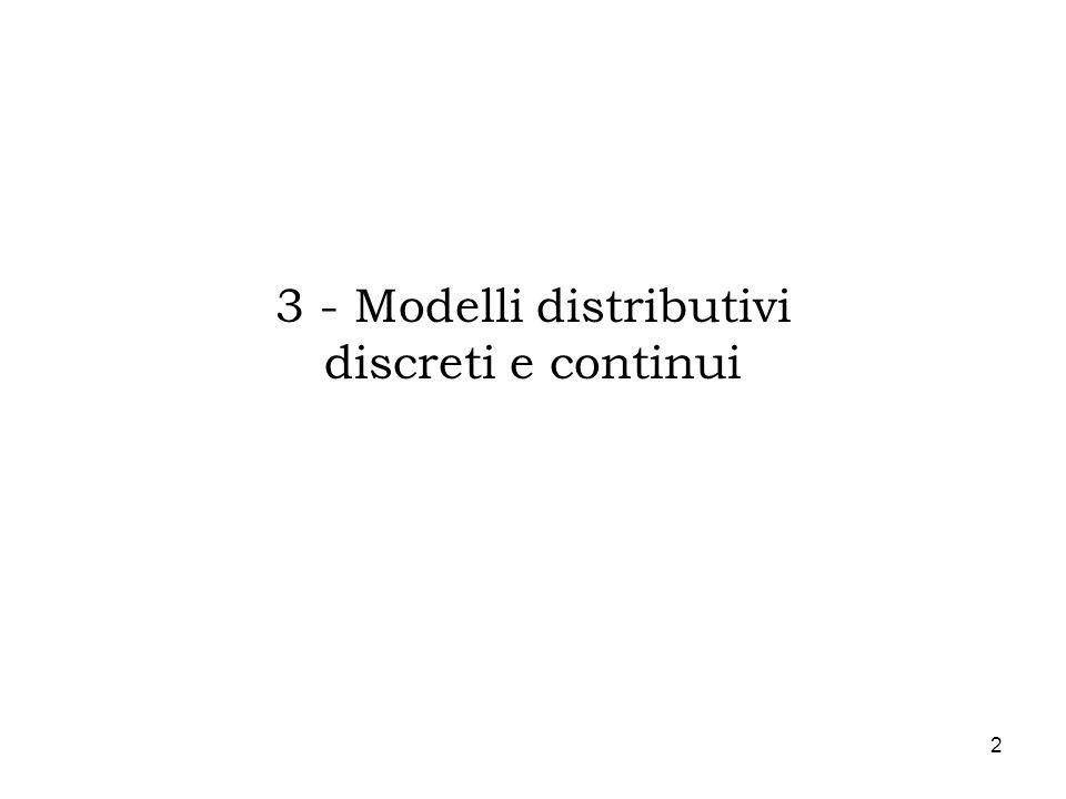 2 3 - Modelli distributivi discreti e continui