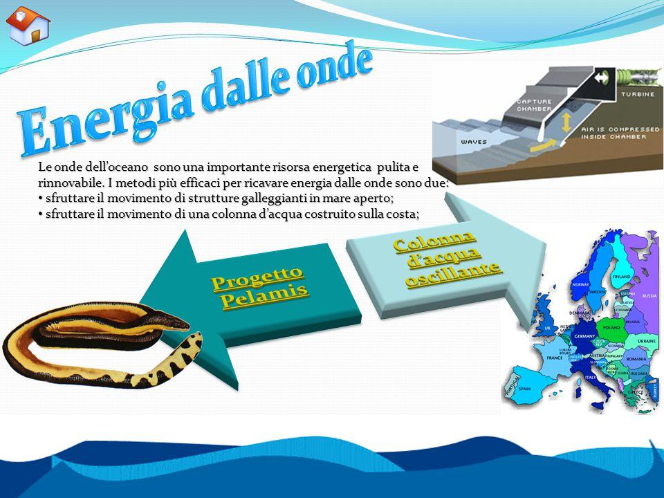 Le onde dell'oceano sono una importante risorsa energetica pulita e rinnovabile. I metodi più efficaci per ricavare energia dalle onde sono due: sfrut