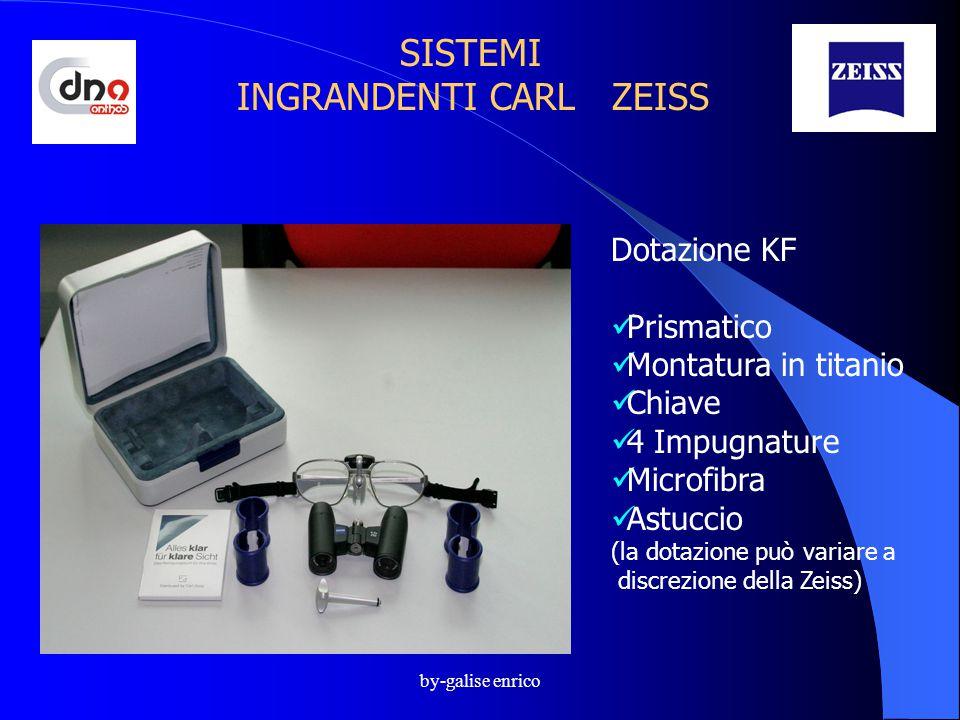 by-galise enrico SISTEMI INGRANDENTI CARL ZEISS Dotazione KF Prismatico Montatura in titanio Chiave 4 Impugnature Microfibra Astuccio (la dotazione può variare a discrezione della Zeiss)