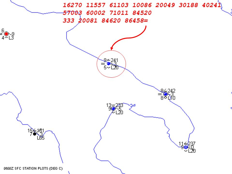 9 Esempi di messaggio METAR Observations for GIOIA, Italy (LIBV) LIBV 300655Z 11009KT 4000 BR SCT030 BKN040 08/06 Q1020 RMK OVC VIS MIN 4000 WIND THR14 13008KT GRN LIBV 300555Z 12010KT 4500 BR SCT025 BKN040 09/07 Q1021 RMK OVC VIS MIN 4500 WIND THR14 14008KT GRN LIBV 300455Z 12010KT 5000 BR OVC040 09/07 Q1021 RMK OVC VIS MIN 5000SE WIND THR14 12008KT WHT LIBV 300355Z 12012KT 4000 BR OVC040 09/07 Q1021 RMK OVC VIS MIN 3000SE WIND THR14 12009KT YLO LIBV 300255Z 12010KT 3100 BR OVC030 09/07 Q1021 RMK OVC VIS MIN 2800SE WIND THR14 13007KT YLO Fonte: http://weather.uwyo.edu/cgi- bin/wyowx.fcgi?TYPE=metar&DATE=current&HOUR=current&UNITS=A&STATIO N=LIBv