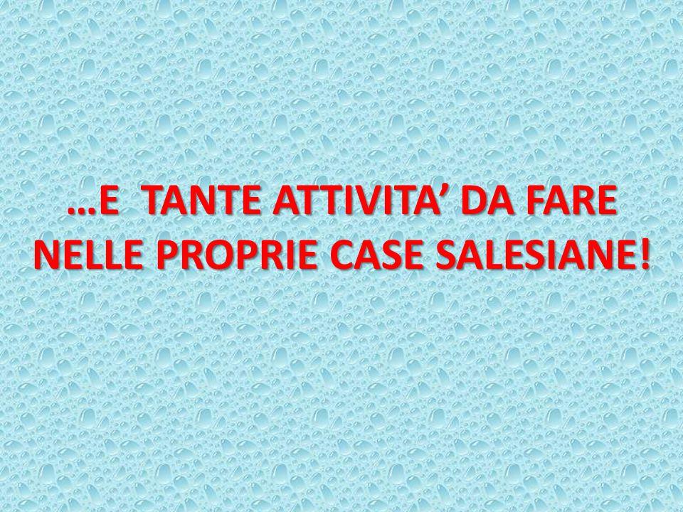 …E TANTE ATTIVITA' DA FARE NELLE PROPRIE CASE SALESIANE!