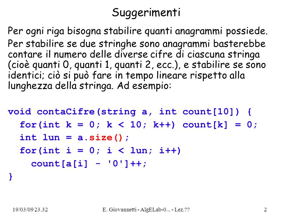 19/03/09 23.32E.Giovannetti - AlgELab-0...