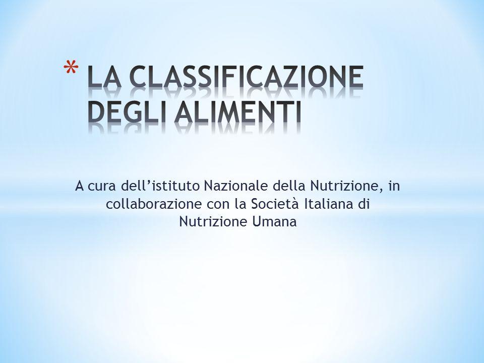 A cura dell'istituto Nazionale della Nutrizione, in collaborazione con la Società Italiana di Nutrizione Umana