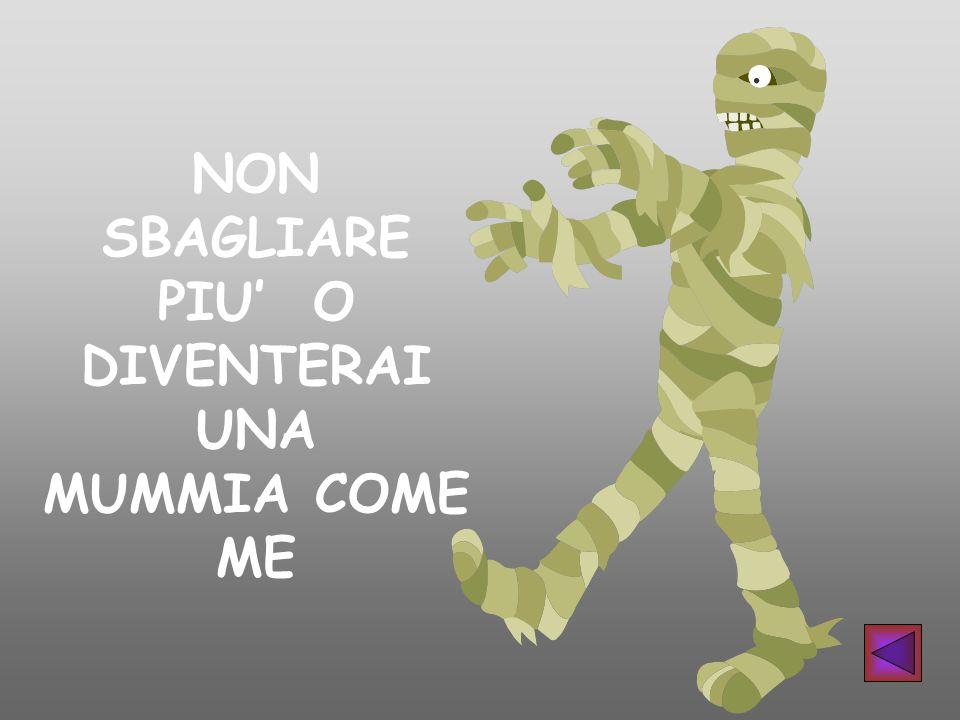 NON SBAGLIARE PIU' O DIVENTERAI UNA MUMMIA COME ME