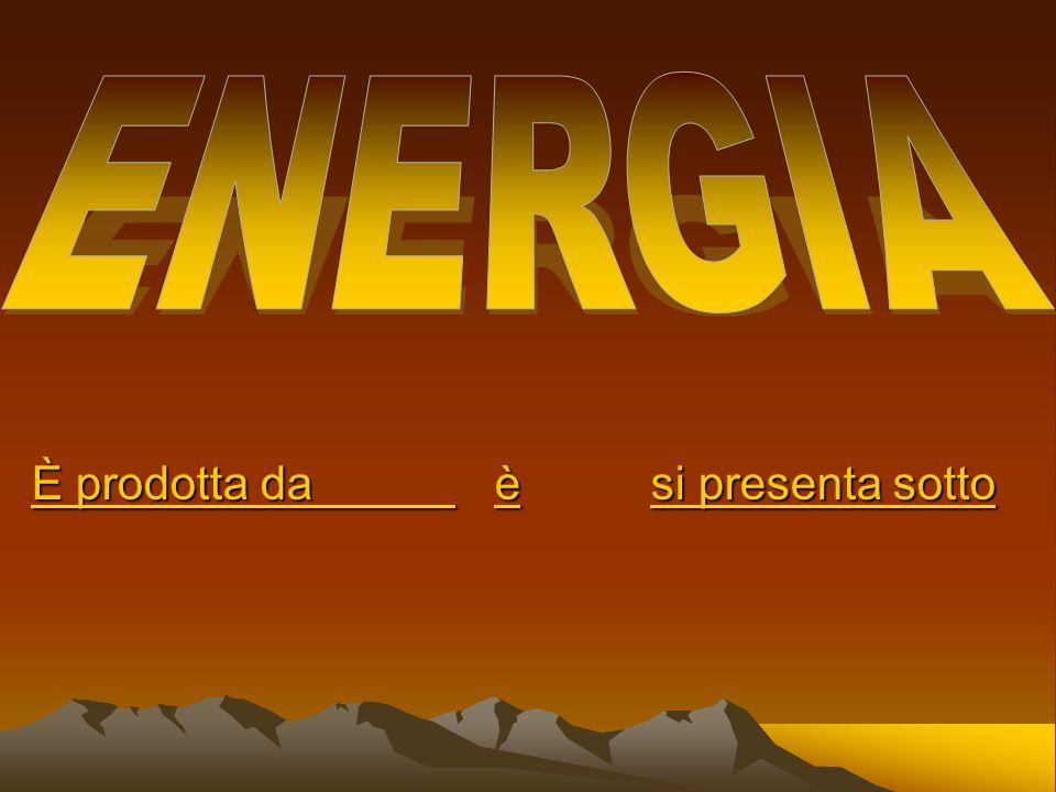 FONTI DI ENERGIA Che possono essere materie prime o forze naturali Si distinguono in: