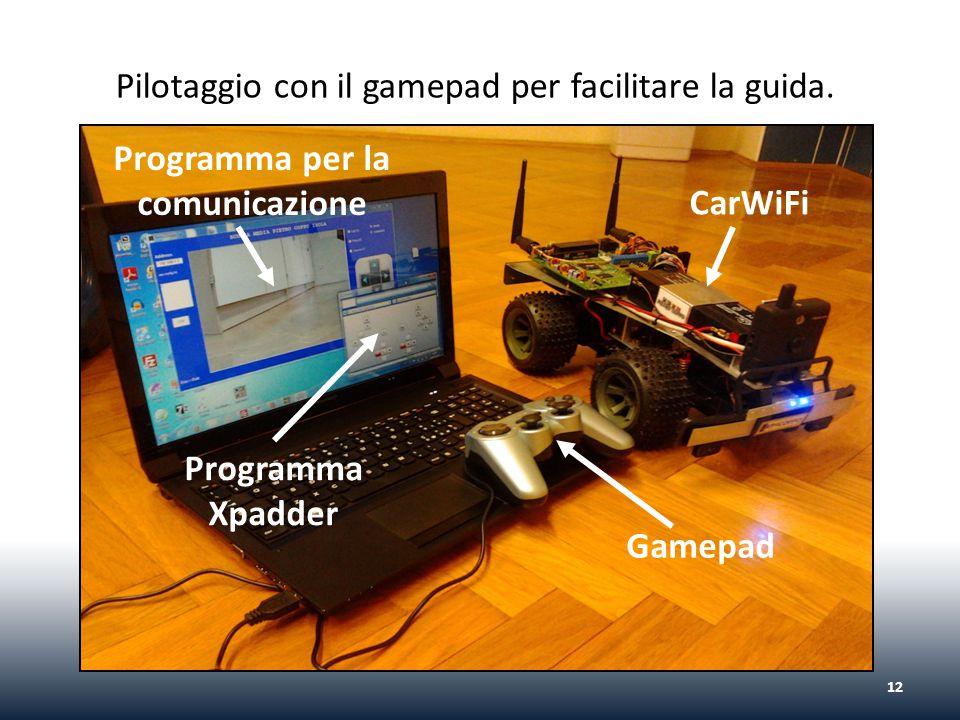 12 CarWiFi Gamepad Programma Xpadder Programma per la comunicazione Pilotaggio con il gamepad per facilitare la guida.