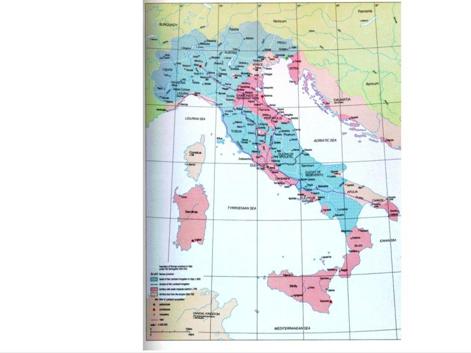 L'ITALIA LONGOBARDA L'insediamento Il ducato longobardo La guida regia Prime linee di un Regnum Le Arimannie Fra tradizione e innovazione Le fonti del diritto