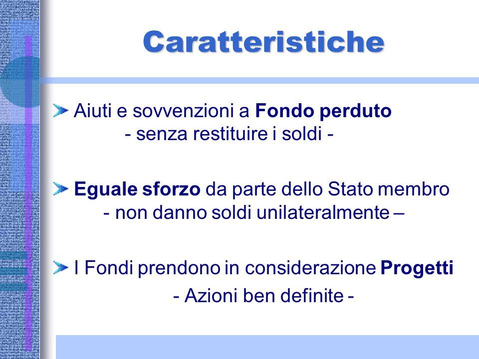 Tipologie di Programmi finanziati dai F.S. Programmi di iniziativa nazionale (obiettivo 1, ob.2,ob.3, piano settore rurale e piano settore della pesca