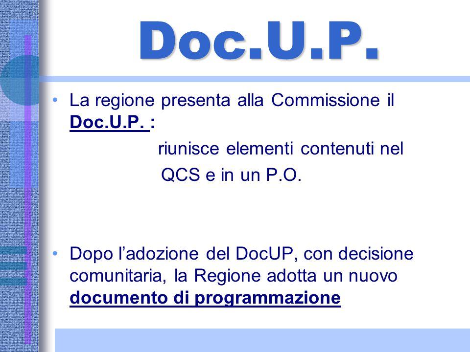 Q.C.S. Lo Stato membro presenta alla Commissione un piano di sviluppo. La Commissione adotta un quadro comunitario di sostegno (Q.C.S.). Il Q.C.S. vie