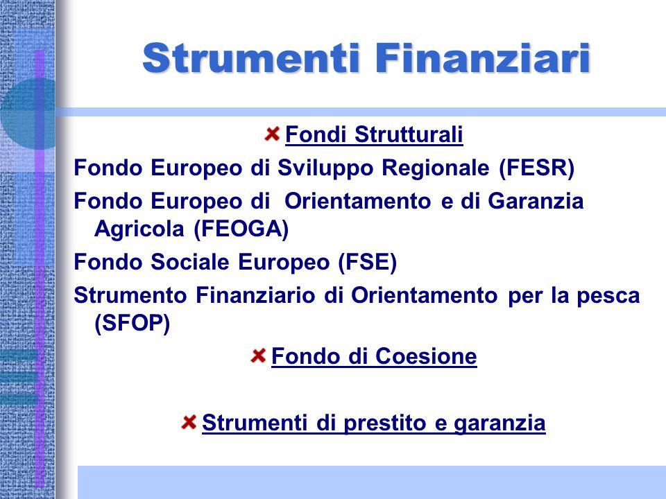 Fondi Strutturali Perché ? Per superare i divari tra i paesi membri: –PIL pro capite –Tasso di disoccupazione –Livello delle infrastrutture –Livello d