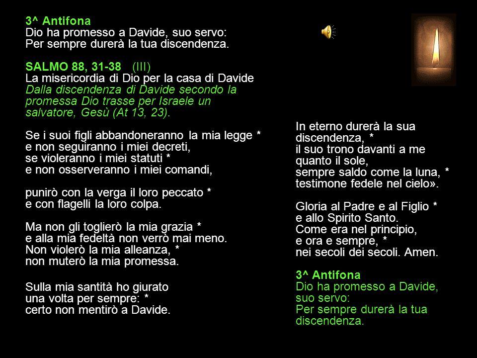 2^ Antifona Si è fatto uomo dalla stirpe di Davide, Cristo, Figlio di Dio.