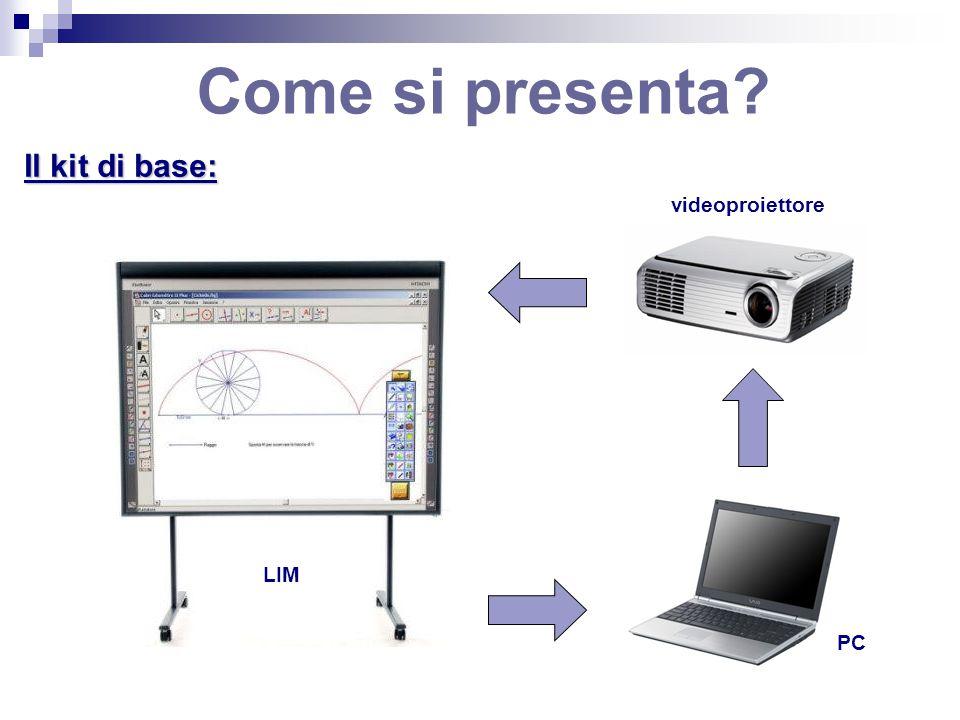 Come si presenta? Il kit di base: videoproiettore PC LIM