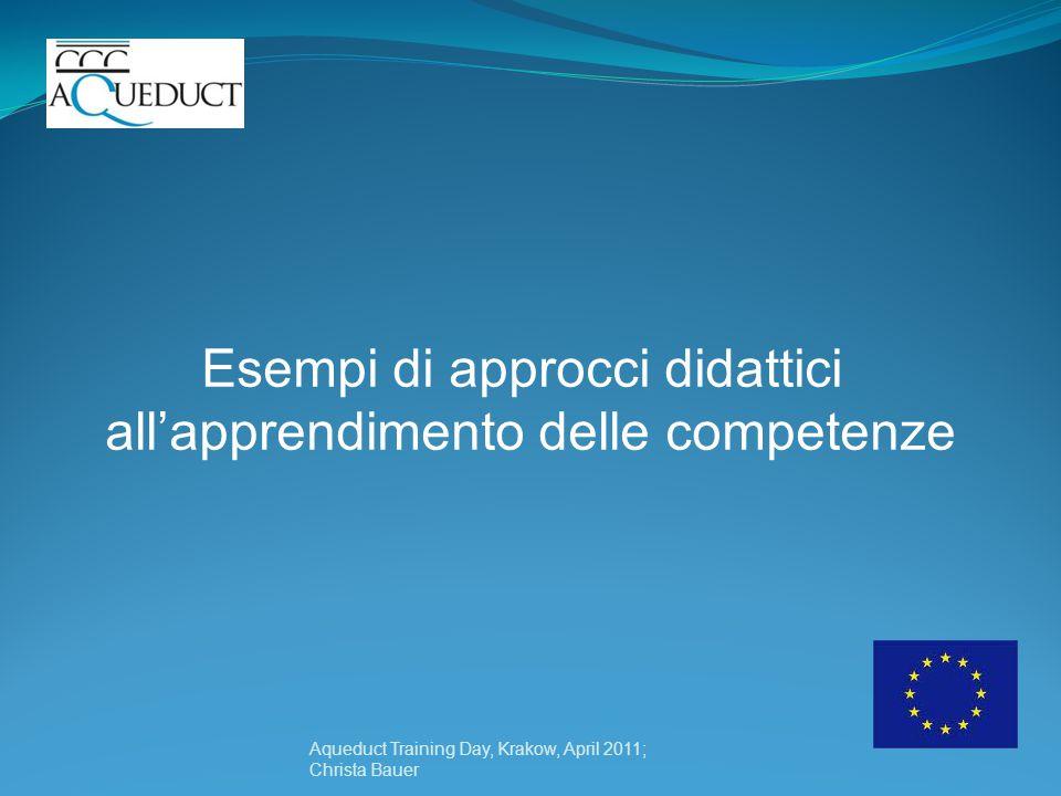 Esempi di approcci didattici all'apprendimento delle competenze