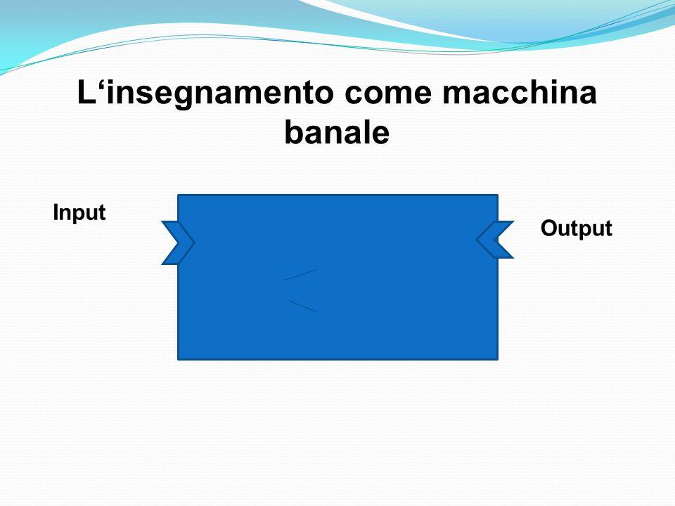 Input Output L'insegnamento come macchina banale