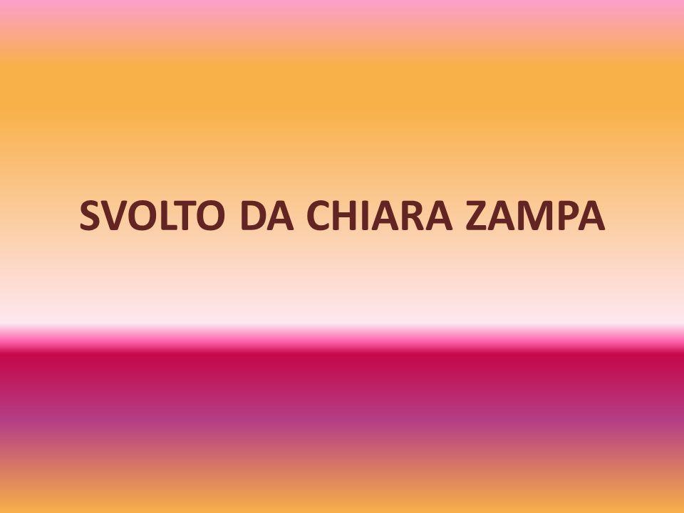 SVOLTO DA CHIARA ZAMPA