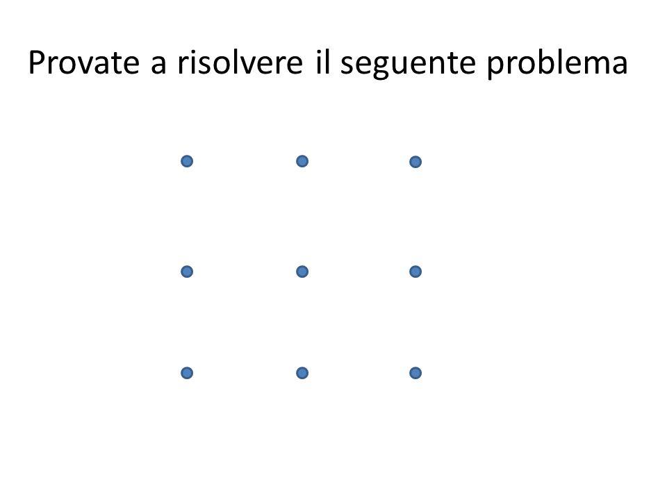 Provate a risolvere il seguente problema