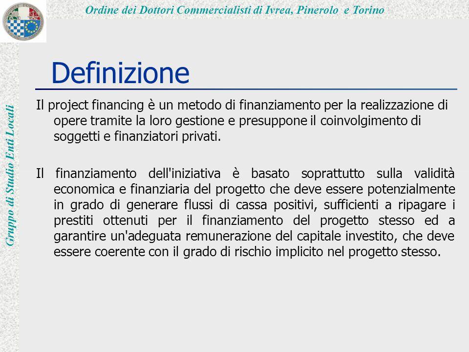 Ordine dei Dottori Commercialisti di Ivrea, Pinerolo e Torino Gruppo di Studio Enti Locali La Proposta (1) Può riguardare la realizzazione di:  opere pubbliche;  opere di pubblica utilità.