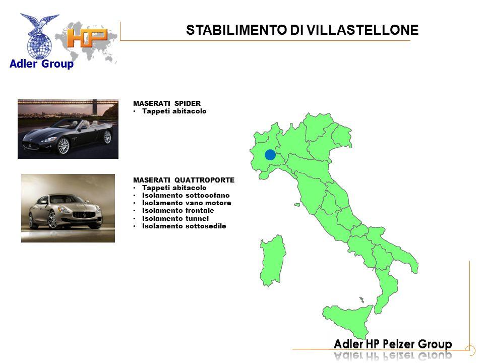 Adler Group A MASERATI QUATTROPORTE Locari passaruota Sportello Baule Piano di carico Rivestimento ruota di scorta STABILIMENTO DI VIRLE