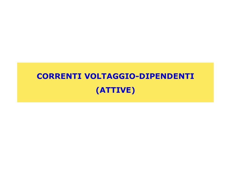 CORRENTI VOLTAGGIO-DIPENDENTI (ATTIVE)