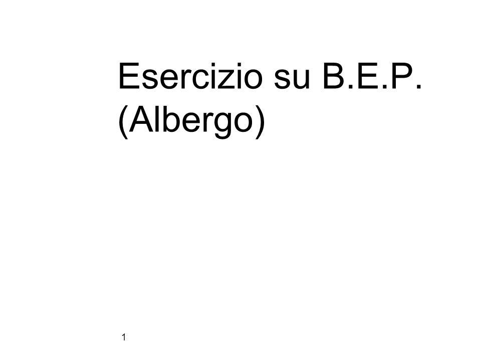 Esercizio su B.E.P. (Albergo) 1