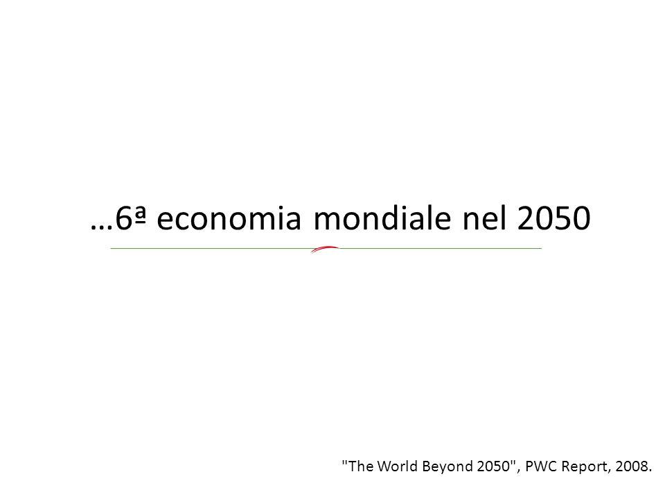 …6ª economia mondiale nel 2050