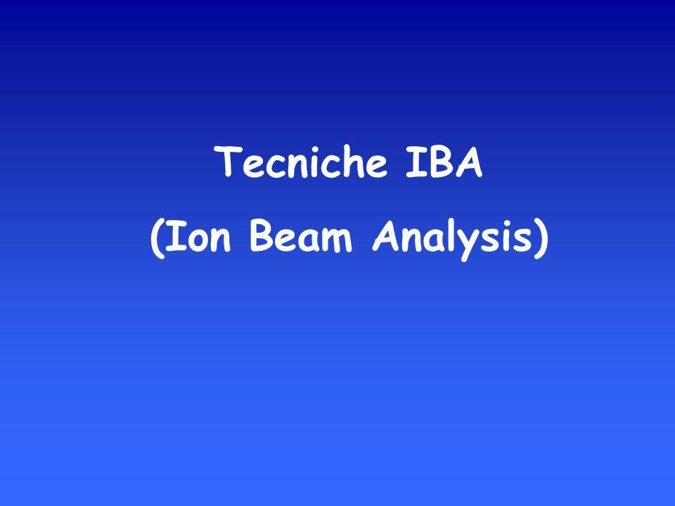 Tecniche IBA (Ion Beam Analysis)