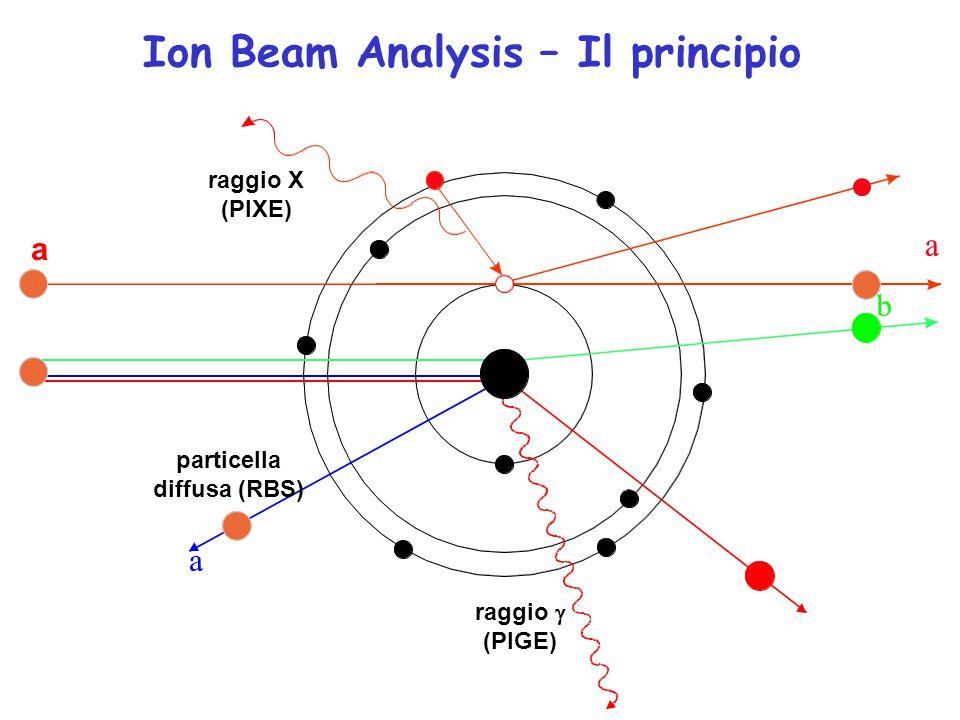 Ion Beam Analysis – Il principio a raggio X (PIXE) raggio  (PIGE) particella diffusa (RBS)
