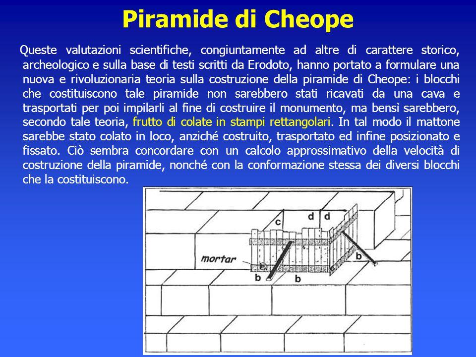 Piramide di Cheope Queste valutazioni scientifiche, congiuntamente ad altre di carattere storico, archeologico e sulla base di testi scritti da Erodot