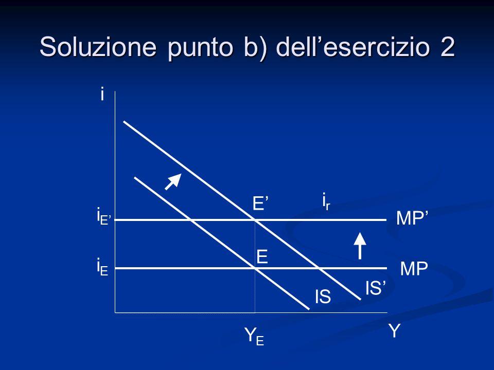 i Y IS' YEYE i E' iEiE IS MP' MP irir Soluzione punto b) dell'esercizio 2 E' E