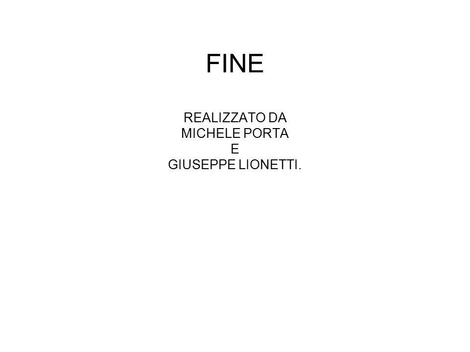 FINE REALIZZATO DA MICHELE PORTA E GIUSEPPE LIONETTI.