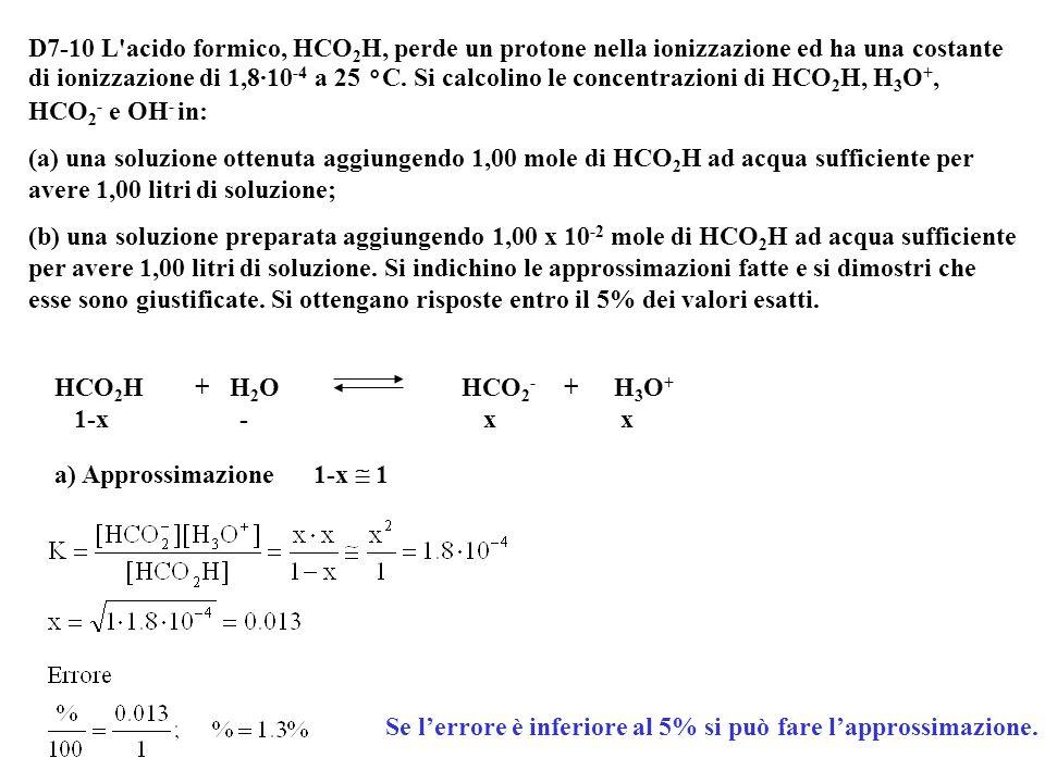 Sostituendo i valori otteniamo: [H 3 O + ] = C + x = 0.0060 + 3.15·10 -3 = 9.15·10 -3 M [SO 4 = ] = 3.15·10 -3 M