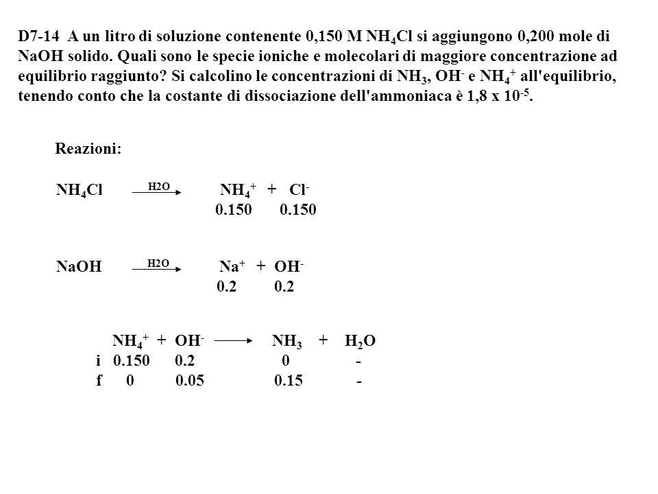 [CH 3 COO-] = 1.23·10 -5 M [H 3 O + ] = 0.15 +1.23·10 -5 = 0.1500123 M [CH 3 COOH] = 0.1- 1.23·10 -5 = 0.0999877 M