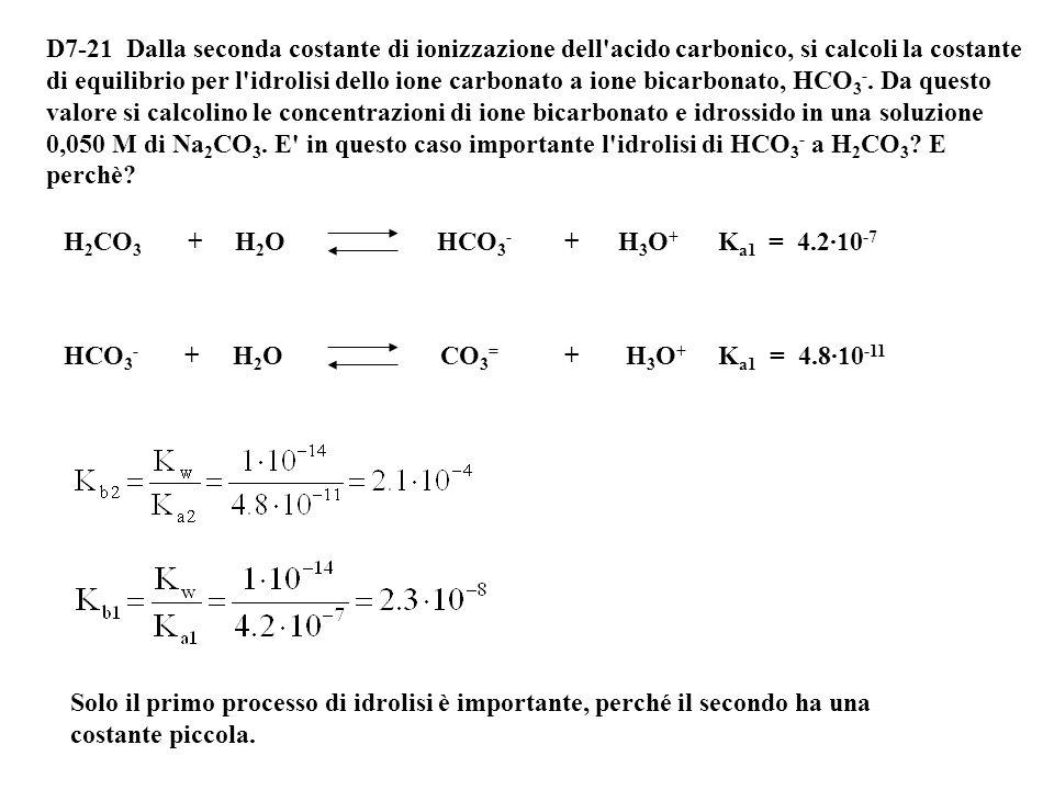 Le concentrazioni iniziali sono: [CH 3 COO - ] = 0.6-0.25=0.35 M [CH 3 COOH] = 0.25 M Quindi abbiamo una soluzione tampone [CH 3 COO - ] = 0.35 M [CH