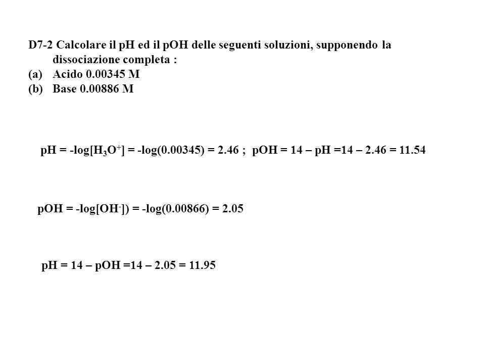 [OH - ] = 1.2·10 -3 M NH 3 + H 2 O NH 4 + + OH - 0.08-x - x x Se la concentrazione iniziale è 1 il grado di dissociazione  è: