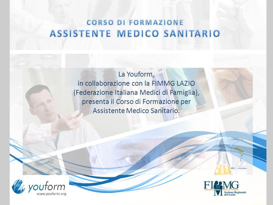 La Youform, in collaborazione con la FIMMG LAZIO (Federazione Italiana Medici di Famiglia), presenta il Corso di Formazione per Assistente Medico Sanitario.