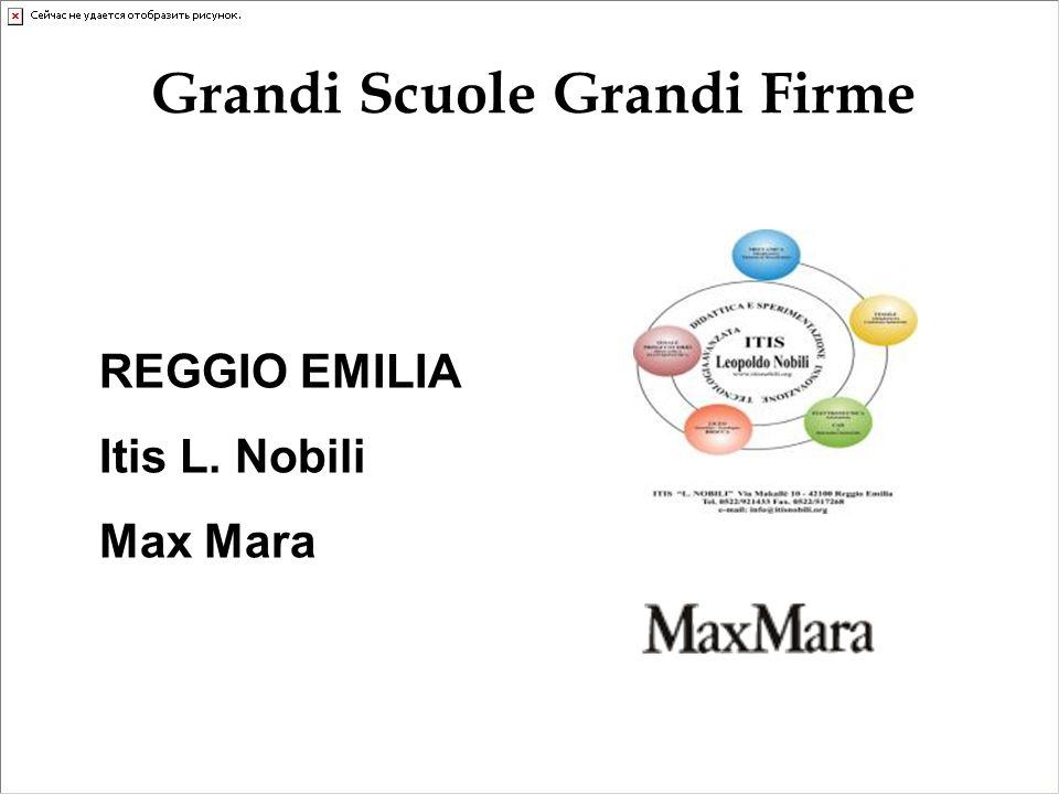 REGGIO EMILIA Itis L. Nobili Max Mara Grandi Scuole Grandi Firme