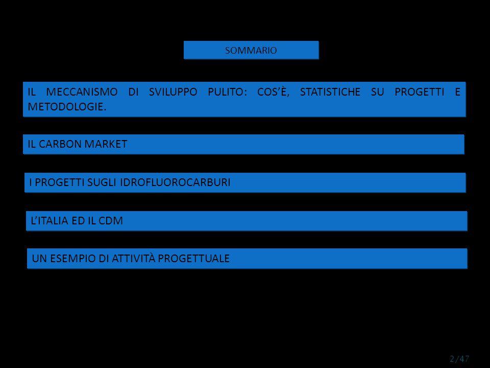 L'Italia partecipa al CDM attraverso società private od attraverso azioni del governo italiano.
