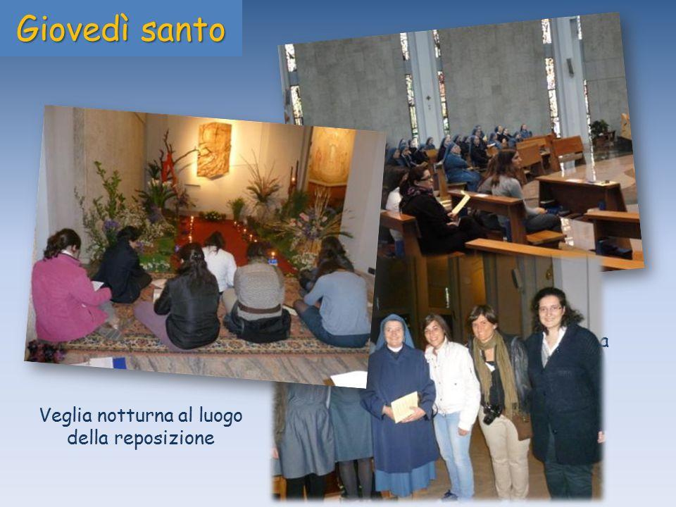 Messa in Cena Domini nella chiesa Gesù Maestro in Roma Giovedì santo Veglia notturna al luogo della reposizione