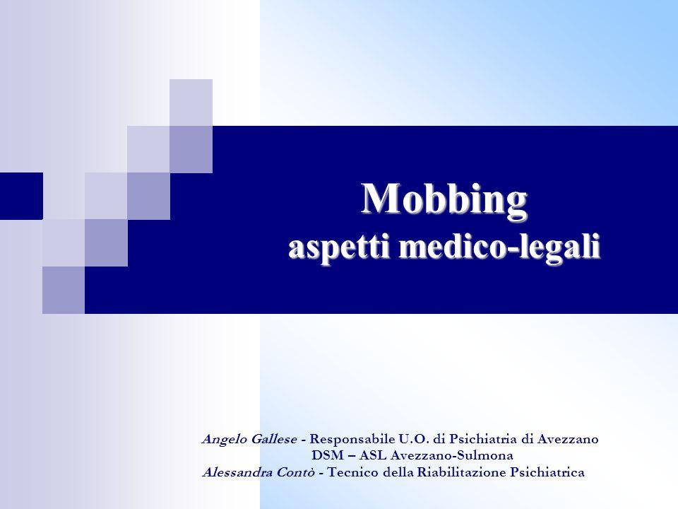 Mobbing: definizioni  Il termine Mobbing deriva dall'inglese to mob che significa accerchiare, aggredire, attaccare, assaltare  È una forma di terrore psicologico esercitato sul posto di lavoro attraverso attacchi ripetuti da parte di colleghi o dei datori di lavoro – H.