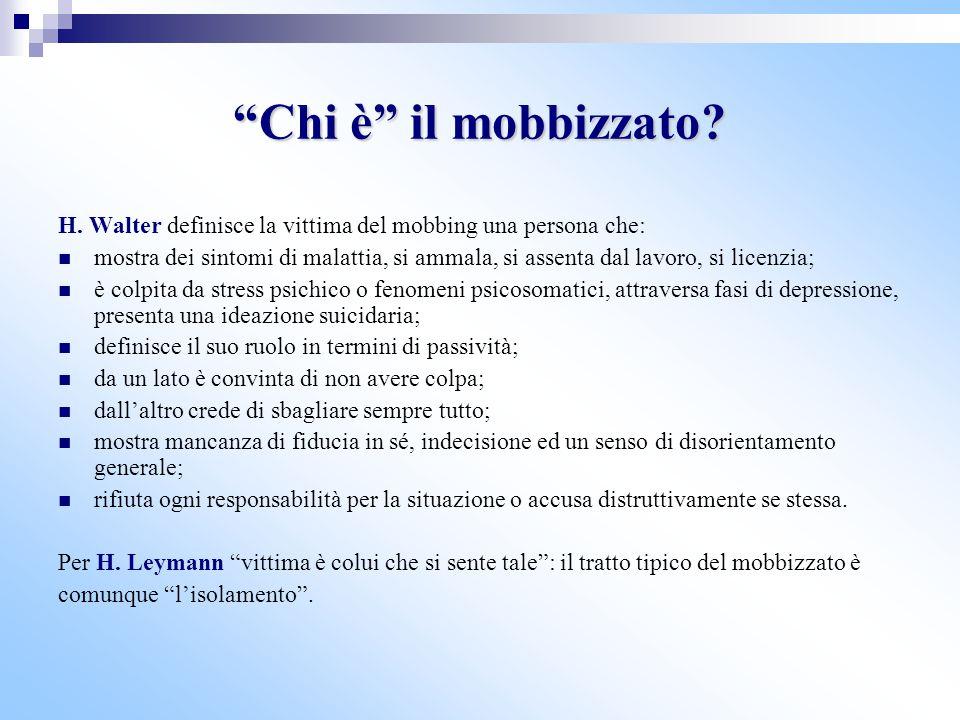 Le strategie mobbizzanti Tipo A: la vittima non dimostra nessun cambiamento nella sua reazione al mobbing e anche il mobber esercita lo stesso tipo di azione mobbizzante.