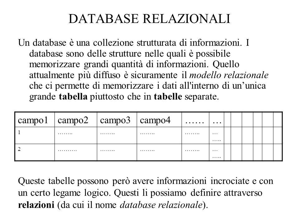 Tramite questa funzione possiamo modificare alcuni valori di determinate righe: tbl_name indica il nome della tabella.