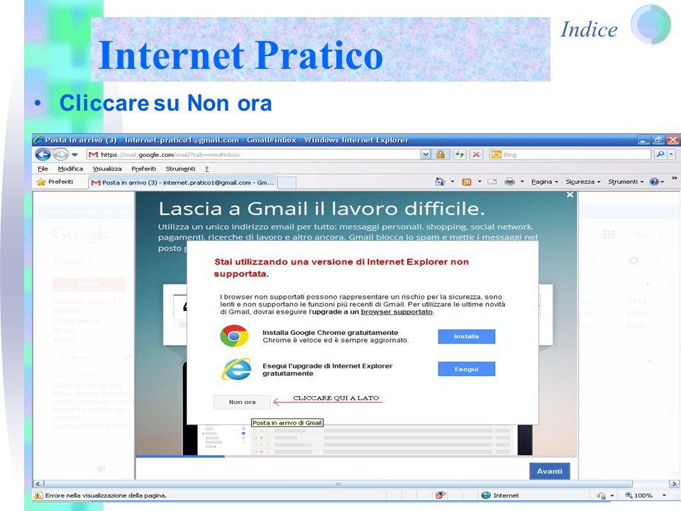 Indice Internet Pratico Cliccare su Non ora