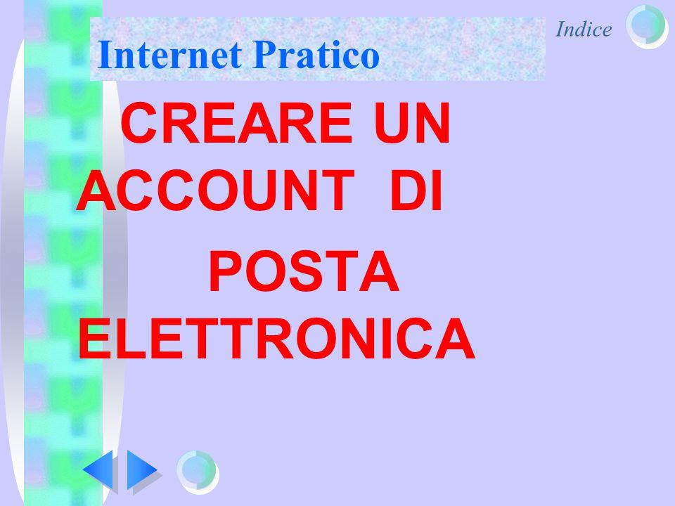 Indice Internet Pratico CREARE UN ACCOUNT DI POSTA ELETTRONICA
