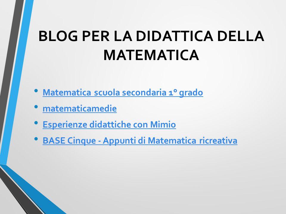 BLOG PER LA DIDATTICA DELLA MATEMATICA Matematica scuola secondaria 1° grado matematicamedie Esperienze didattiche con Mimio BASE Cinque - Appunti di Matematica ricreativa