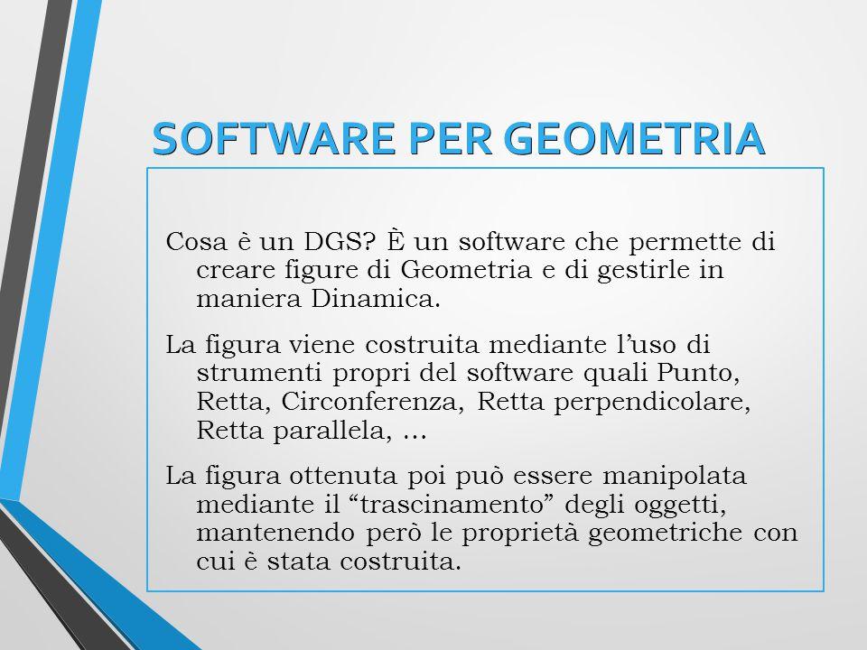 SOFTWARE PER GEOMETRIA Cosa è un DGS.